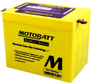 Motobatt Battery For Harley-Davidson FLH Electra Glide 1980 813321; MBHD12H