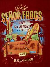 Senor Frog`s ~ Have no Worries ~ Nassau-Bahamas Size M-Junior-Teen-Youth T-Shirt