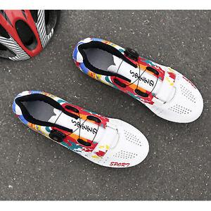 Road Bike Shoes 2/3-Bolt Bicycle Women Men Sneaker Fits Look/SPD Cleats Gear