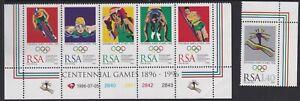RSA1010) RSA Olympic Games Atlanta 1996, strip of 5 & 1 single, MUH