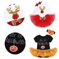 Kids Girls Halloween Romper Christmas Party Cosplay Carnival Outfits Costumes