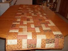 "New Bed Runner/Table Runner, Handcrafted & Hand Quilted, 24"" x 77"", 100% Cotton"