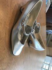 1950's Silver Stylepride Sweet Steps 5.5B Vintage Rhinestone Mary Jane Vegan