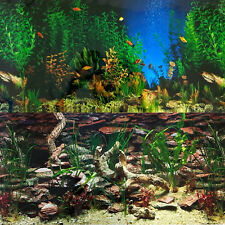 Aquarium Background Double-Sided Repeating Aquarama Shalescape Plants Fish Tank