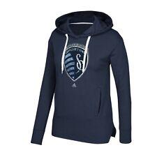 Sporting Kansas City Adidas MLS Women's Navy Blue Distressed Primary Fleece
