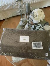FULL QUEEN POTTERY BARN WASHED VELVET SILK DIAMOND  QUILT MOCHA BROWN