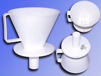 Kaffeefilter für Thermoskanne 1x4 zweiloch, Dauerfilter Kunststoff Kaffee Filter
