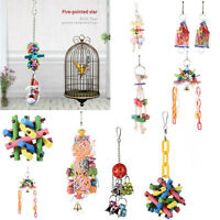 Pet Bird Parrot Rope Swing Climb Toys Cage Hanging chew Toys Parakeet Cockatiel