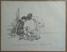 Ancienne lithographie signée et numérotée POULBOT - enfant juif - antisémitisme
