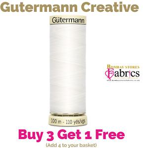 Gutermann Thread 100m Sew All 100% Polyester Sewing Thread Overlocker/Machine