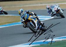 Michel Fabrizio main signé 2012 BMW Racing 7x5 photo wsbk 1.