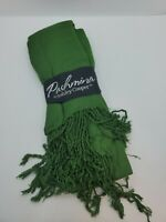 Ashley Cooper Pashmina Style Shawl Scarf Women's, New With Tags Green