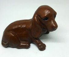 Dachshund Dog Figurine Red Mill Vintage 1989 Red Smooth Coat