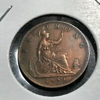 GREAT BRITAIN 1884 FARTHING HIGH GRADE COIN