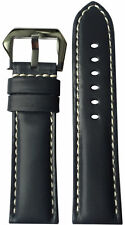 24x22 RIOS1931 for Panatime Navy Leather Watch Strap for Panerai
