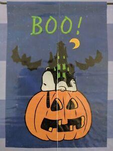 """Peanuts Snoopy Halloween Garden Flag 12"""" x 18"""" BOO!!!"""
