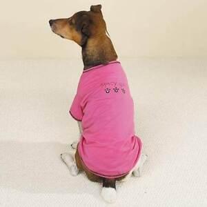 Casual Canine Dog SPICY GIRL Tee T-Shirt Rhinestones Cotton Machine Washable