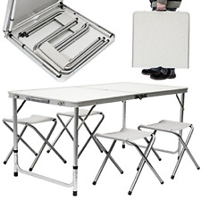 HEAVY DUTY PLASTIC FOLDING TABLE OUTDOOR BANQUET PARTY GARDEN BBQ AND CHAIRS SET