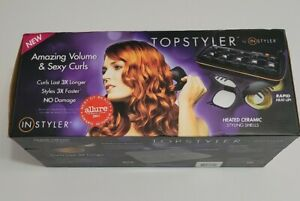TopStyler by InStyler Heated Ceramic Styling 15 Shells Hair Curlers Comb Case