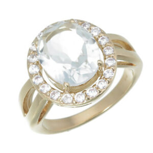 2.50 cttw Green Amethyst Fashion Ring in Yellow Gold Plated Brass Oval Shape