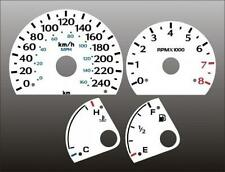 1995-1999 Dodge Neon METRIC KPH KMH Dash Cluster White Face Gauges