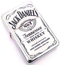 JACK DANIEL'S WHISKEY White Smoking Cigarette Petrol Lighter Metal Merchandise