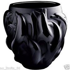 NP 2.990 LTD EDT LALIQUE Schwarz Kristall Vase Dauphin 4,150 kg 17cmH 17cmD+BOX