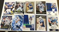 Andrew Luck Card Lot (10). Jersey Card /99 And Cool Rookie Card.