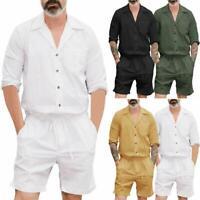 Men's One Piece Rompers Short Sleeve Street Casual Cargo Pants Jumpsuit Overalls