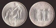 SAN MARINO 500 LIRE 1972 MATERNITA' ARGENTO/SILVER FDC/UNC FIOR DI CONIO