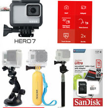 GoPro Hero7 White Edition Touch-Screen Camera With Sports Accessory Bundle