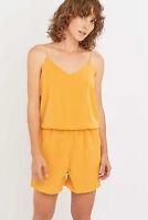 Selected Femme ''Sandri'' Mustard Crepe Playsuit/Jumpsuit/Cami Size 10 UK