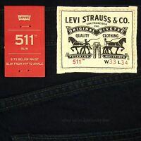 Levis 511 Slim Fit Jeans Mens New SIZE 33 x 34 DARK BLUE Zipper Fly Levi's NWT