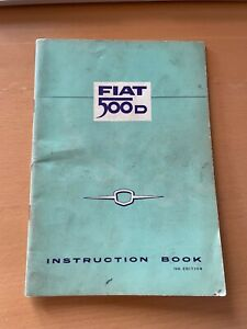 CLASSIC FIAT 500D INSTRUCTION BOOK 14TH EDITION VINTAGE 500D1964 OWNERS MANUAL