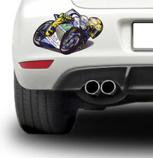 Valentino Rossi cartoon image Racing Super Bike Sticker TT Race Decal Rally Car