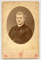 Rome Portrait of a important catholic priest chaplain 1880c Montabone V109