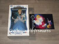 """Disney Store Limited Edition Cinderella 17"""" Collector Doll LE 5000 - New"""