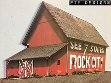 """* O Scale Scratch Built """"SEE ROCK CITY BARN"""" Farm  Front/Flat, MTH Lionel *"""