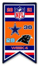 2021 Semaine 4 Bannière Broche NFL Dallas Cowboys Vs.Carolina Panthers Très Bol
