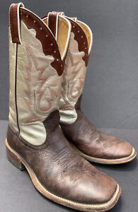 BOULET Canada Mens Brown Genuine Leather Western Cowboy Boots 7.5 C