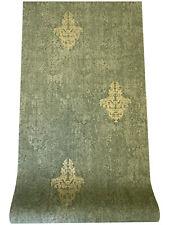 Vlies Tapete Barock Ornament Muster olivgrün gold metallic 651-03 Stylish