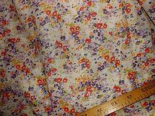 tissu   voile de coton 100% fleurs 100x140 cm