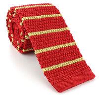 Michelsons UK - 6cm Silk Skinny Knitted Stripe Ties