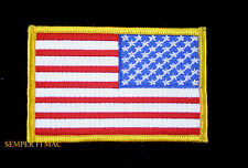 AUTHENTIC USA FLAG TOP GUN RIGHT ARM REVERSE PATCH US ARMY MARINE NAVY AIR FORCE