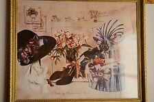 Limited Edition Print Gamboa Etude De Chapeaux No 12 Framed Consuelo Gamboa