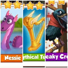 Coin Master Card's Bundle*** Nessie & Mythical Tune & Creaky Crow ***