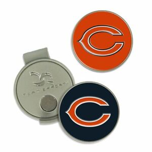 CHICAGO BEARS HAT CLIP 2-PC BALL MARKER SET NEW WINCRAFT 👀⛳