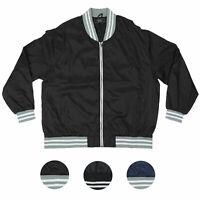 ROK Men's Big & Tall Plus Size Lightweight Nylon Zip Windbreaker Bomber Jacket