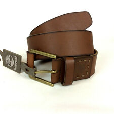 Timberland Genuine Leather Belt B75392 Size 38 Brown Distressed Brass Buckle NEW
