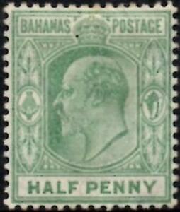 Bahamas 1906 KEVII  1/2d Pale Green  SG.71 Mint (Hinged)   Wmk.Multi Crown CA